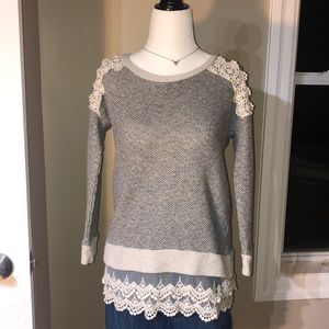 Maurices long-sleeve lace blouse